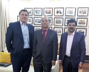 Elvis Floreani (President of Absolute Imaging Inc.), Mr. Narendra K. Verma (MD and CEO of ONGC Videsh) and Ajit Singh (President of Absolute Imaging International India).