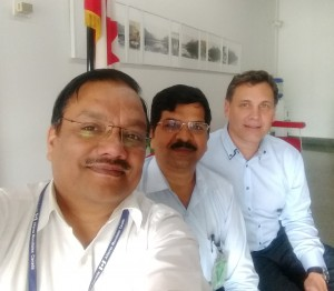 Mr. Saibal Ghosh, Canadian Trade Commissioner in Delhi India; Ajit Singh, President, Absolute Imaging International (India) Private Ltd.; and Elvis Floreani, President, Absolute Imaging Inc.